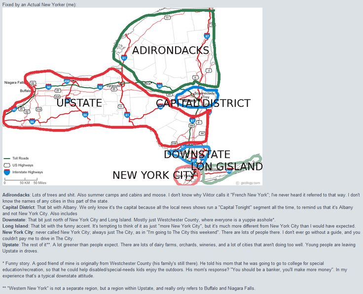 New York Stereotype Map