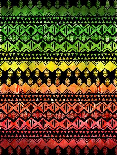 One Love Tribal {black} Art Print by scahtzibrown  #onelove #rasta #pattern