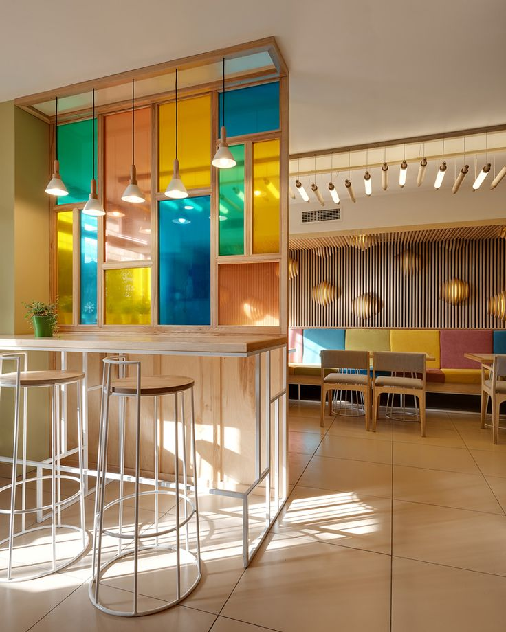 Brothers Aleksandr Yudin and Vladimir Yudin of YUDIN Design, have recently completed COFFEE &, a small cafe-bakery located in Kiev, Ukraine.
