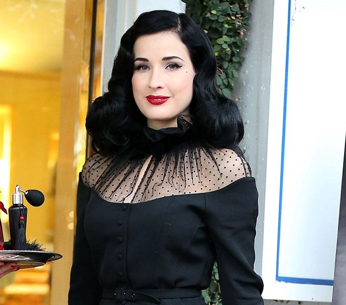 Dita Von Teese at the promotional event for her new perfume at Fred Segal