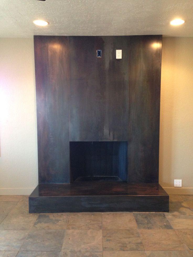 Fireplace remodel- blackened steel ... 1925 California Farmhouse... jm design
