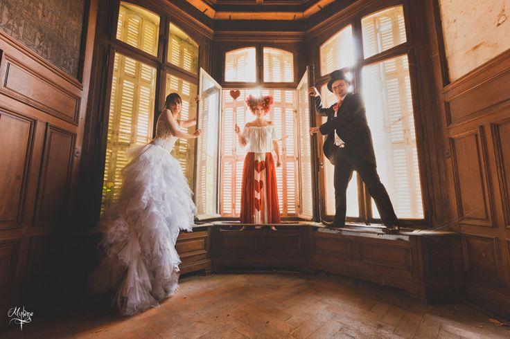 Reportage Mariage sur le thème Alice au pays des merveilles, wedding, photographe Huluberlue, wonderland, féérie, photography