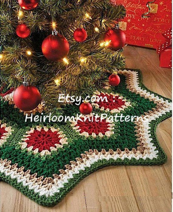 Granny Motif Christmas Tree Skirt Crochet Pattern Ripple Tree Etsy Christmas Tree Skirt Crochet Pattern Christmas Tree Skirts Patterns Crochet Tree Skirt