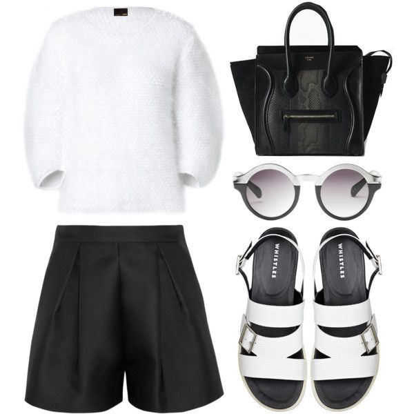 """Look 20 - Monochrome Madness"" by splashthestyle on Polyvore polyvore, fashion set, fashion, ootd, collage, minimal, outfit"