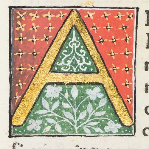 """Decorated initial """"A"""" in Scriptores historiae Augustae by University of Glasgow Library.  This is part of an incredible photo collection from this document and the University has a wonderful photo collection of their rare books."""