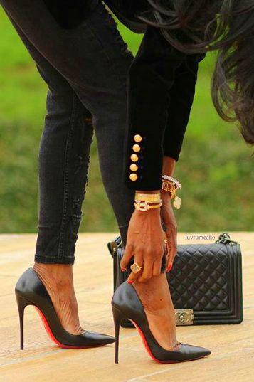 Olivia Fabuleuse wearing Chanel & Louboutins