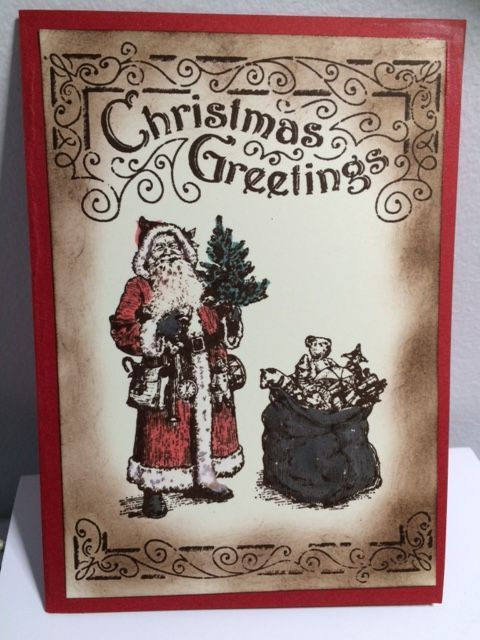 Stampin up Father Christmas wink of stella