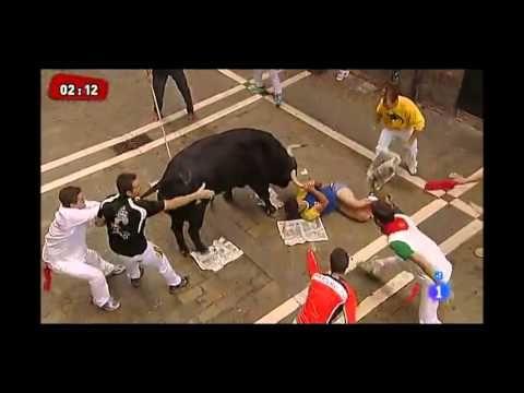 ▶ Running of the Bulls 2013 - Pamplona (Spain) - YouTube