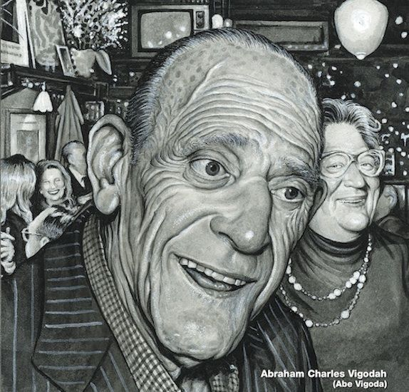 Drew Friedman  - Abe Vigoda from Even More Old Jewish Comedians.  I've had a mad crush on Drew Friedman for as long as I can remember.