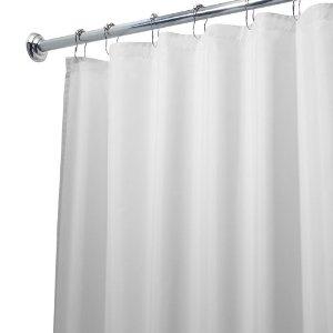 Amazon.com: InterDesign 72 x 84-Inch Fabric Waterproof Long Shower Curtain Liner, White: