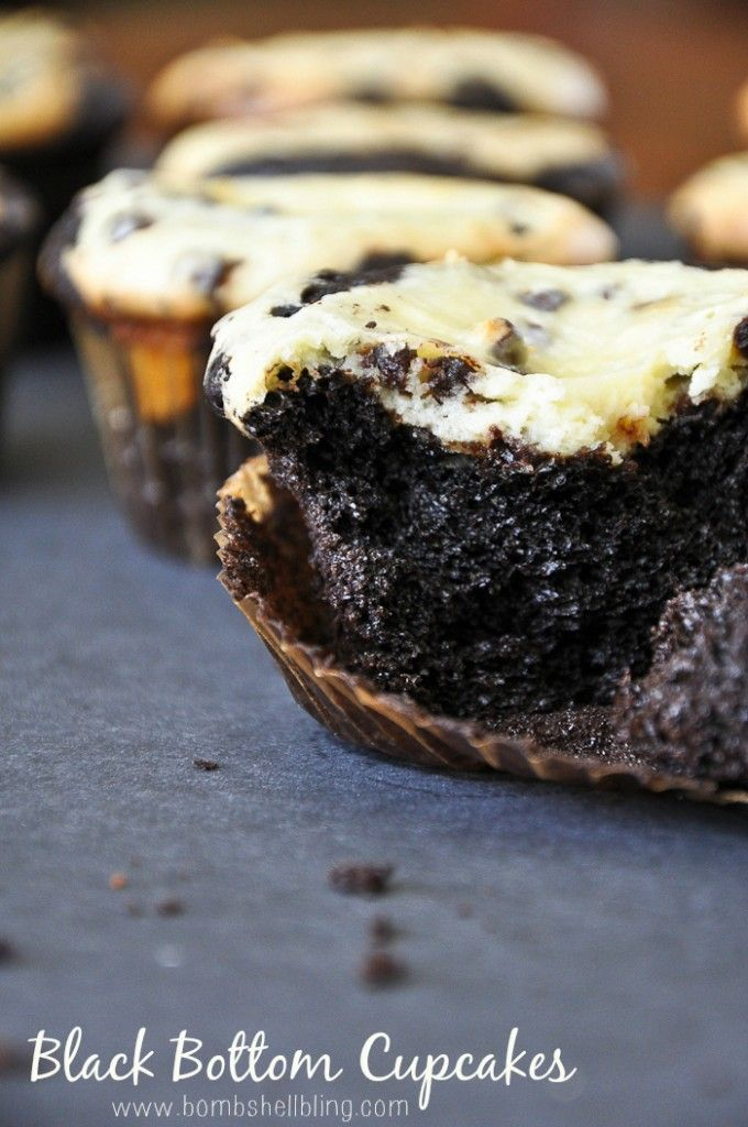 Black Bottom Cupcakes | Recipe | Black Bottom Cupcakes, Bombshells and ...