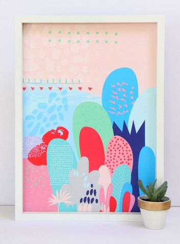 Cloud Nine Creative - Pink Magical Forest Print - A3