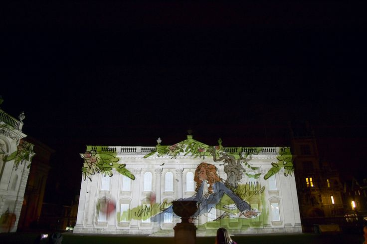 Anniversary light show | Copyright University of Cambridge