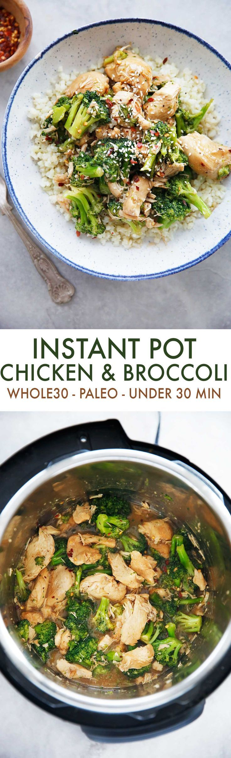 Paleo Chicken and Broccoli (Instant Pot & Under 30 Minutes) | Posted By: DebbieNet.com