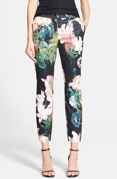 eb84e5f101e7 Ted Baker London  Opulent Bloom  Trousers available at  Nordstrom  225 ·  Slim CalvesFloral Print ...