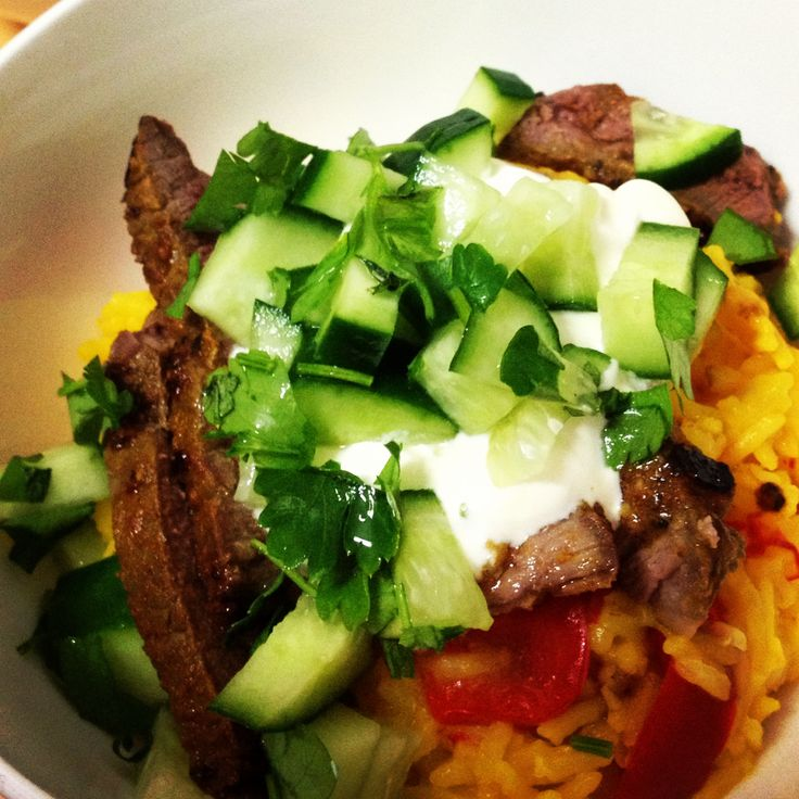 Hello dinner! #12wbt Lamb with Spiced Rice - all I can say is - amazing!