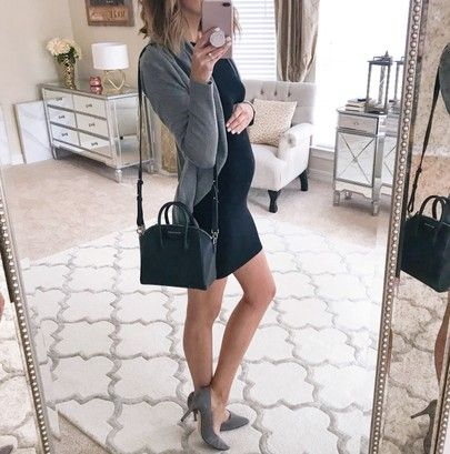 The most flattering LBD (under $40!) cozy on-sale cardi this dress is non-maternity but works with my little bump this cardigan is marked down to $44! You can instantly shop my looks by following me on the LIKEtoKNOW.it app // @liketoknow.it - http://liketk.it/2uprC #liketkit #LTKbump #LTKunder50 #LTKunder100