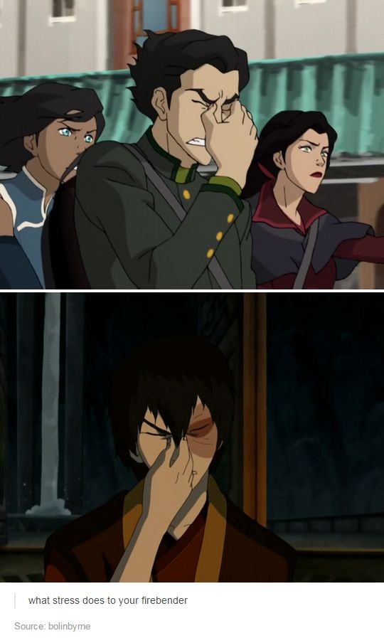 Avatar What stress does to your firebender