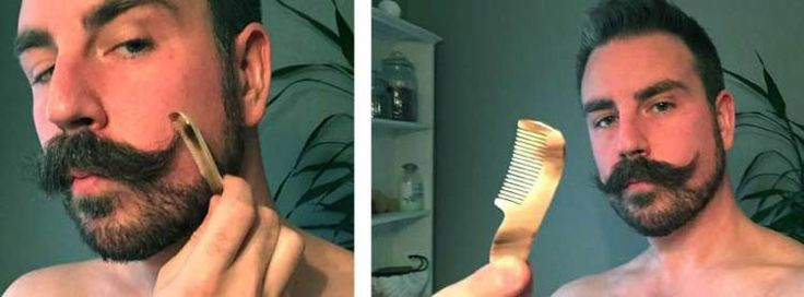 Mustaschstylingen går som en dans! | Testpiloterna  Dr Dittmar Moustache Comb.