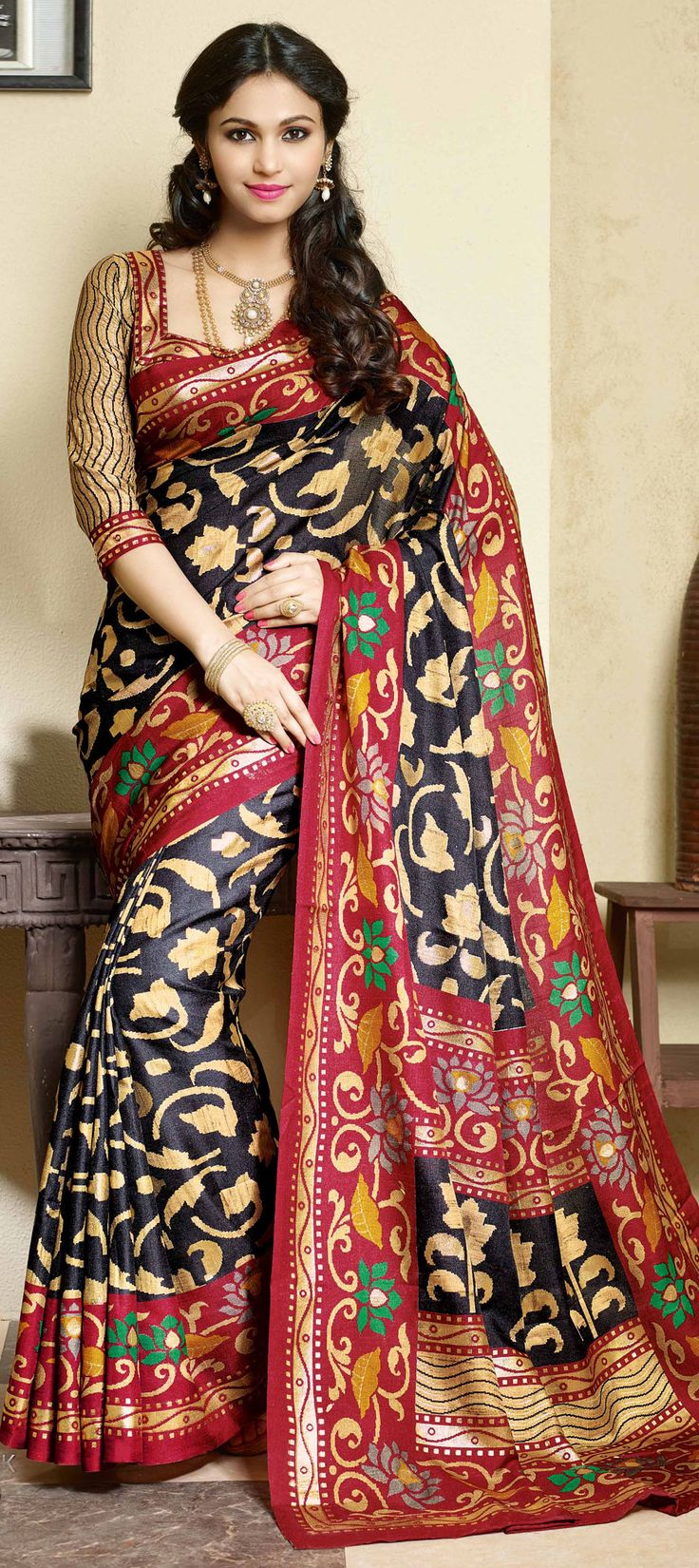 : Multicolor color family Bollywood sarees .