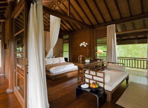 como shambhala estate bali wooden and white pavilion style guest room with balcony. Interior Design Ideas. Home Design Ideas