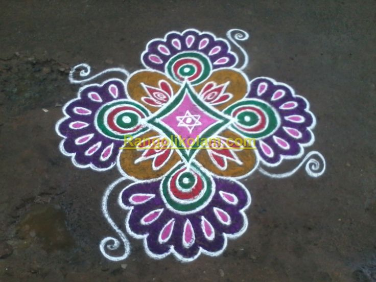 This kolam is created with my own idea and design .... This is free hand kolam without dot, i have did this kolam..... it came very nice and looking beaytiful....