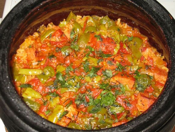 COOKED VEGETABLES WITH CHICKEN (MACEDONIAN GJUVECH)  If you like baked chicken and cooked vegetables, then you need to prepare Macedonian gjuvech. I guarantee you'll like it. Bring some joy to yourself and your loved ones by introducing a new meal to your kitchen.