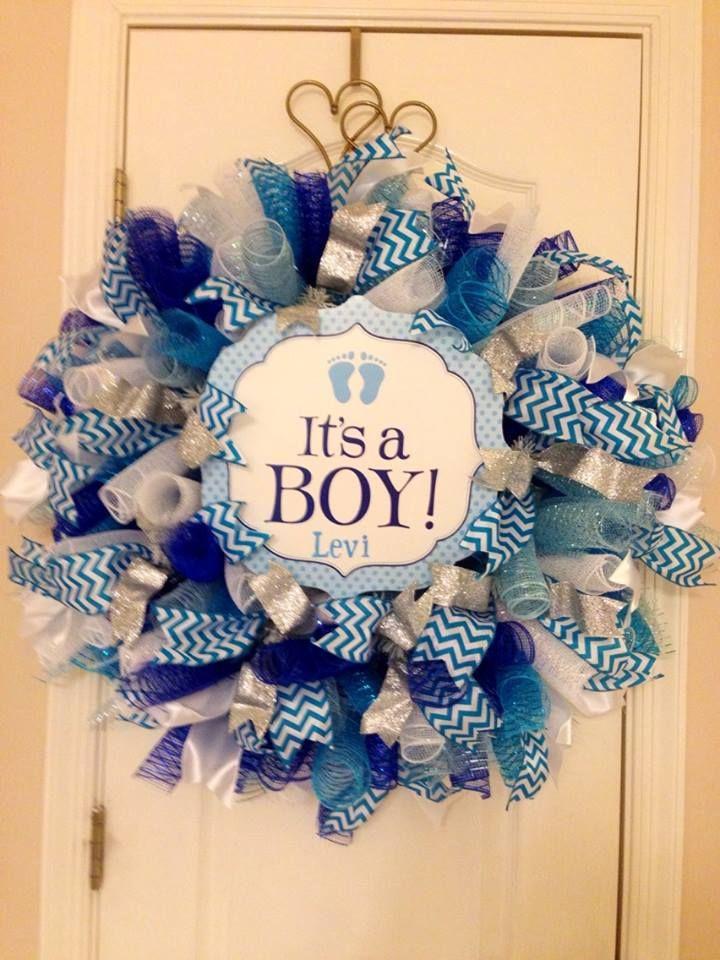 It's A Boy wreath