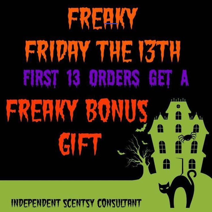 scentsyfridaythe13th in 2020 Friday the 13th, Friday