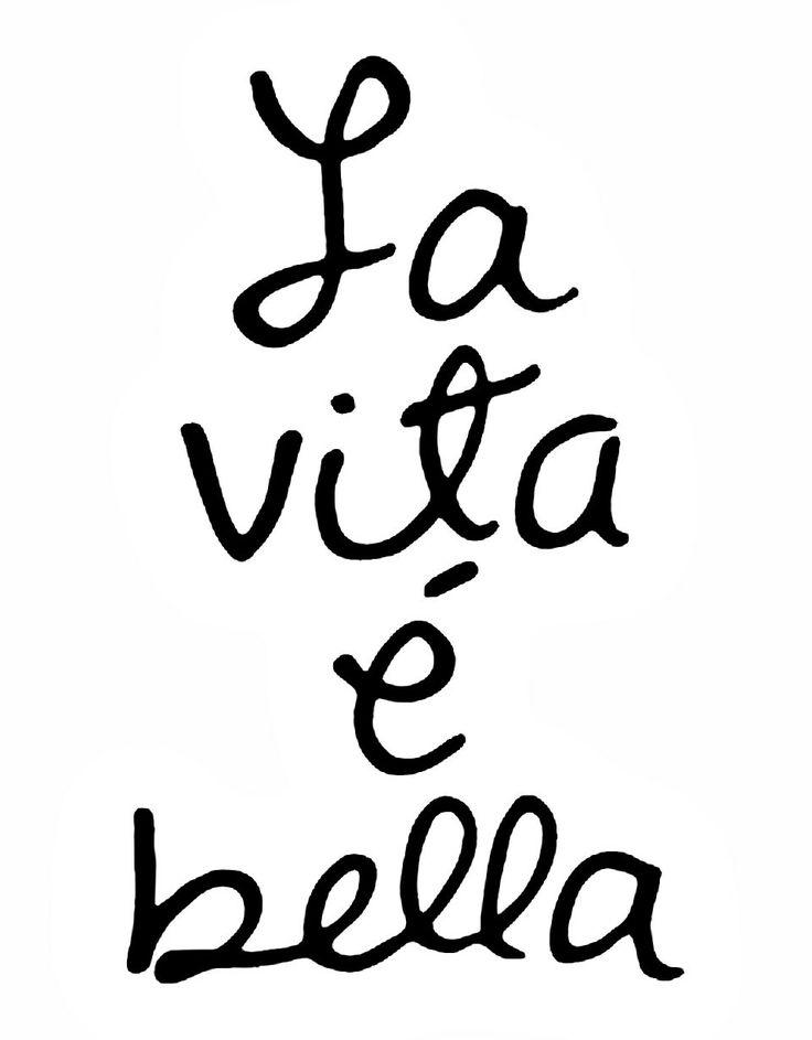#Life= Beautiful Italian Quote __[Via Etsy by AldariArt]
