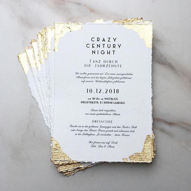 Goede Wedding Invitation Hochzeitseinladung Save The Date Gold Blattgold IL-44
