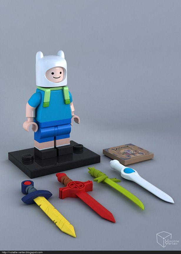 Personajes de Adventure Time como minifiguras LEGO