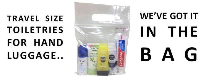 Travel Toiletries 2 Go is a UK based one-stop shop for your travel size toiletries. All hand-luggage sized & packed in an airport-security-approved clear bag.