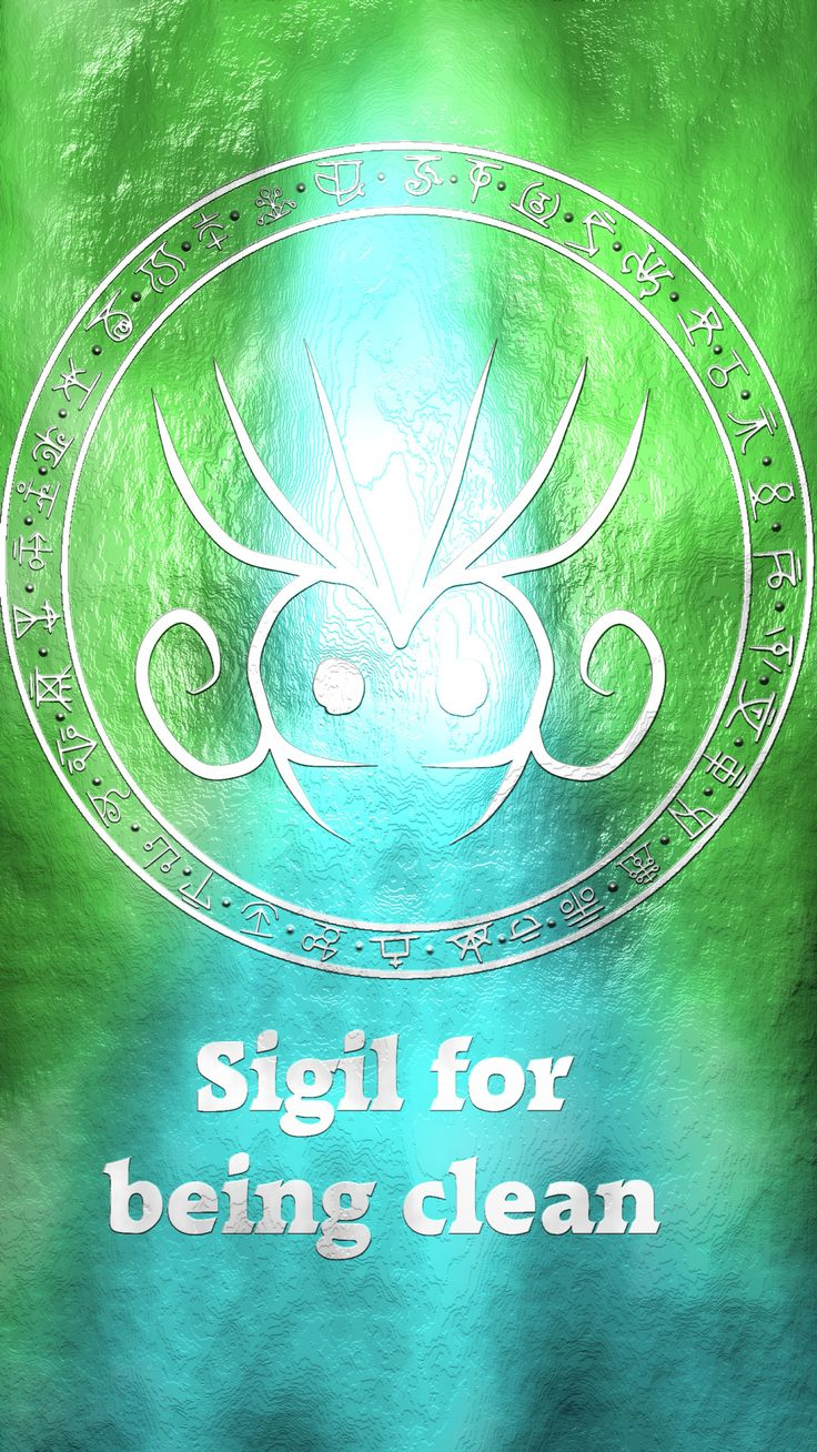 """Wolf Of Antimony Occultism • Could you make a sigil for """"I am clean"""" and """"I..."""