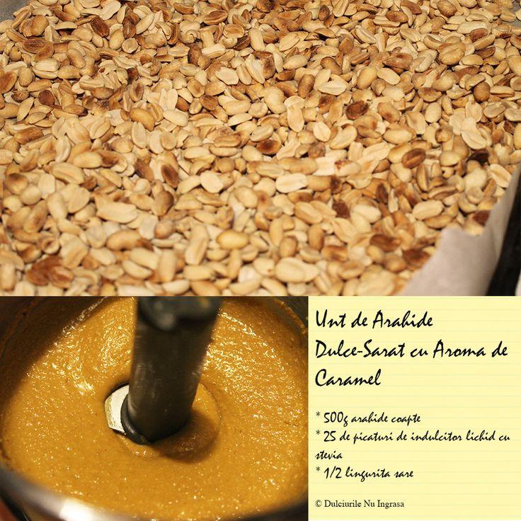 Unt de Arahide dulce-sarat cu Aroma de Caramel (fara zahar, fara ulei, 100% natural)