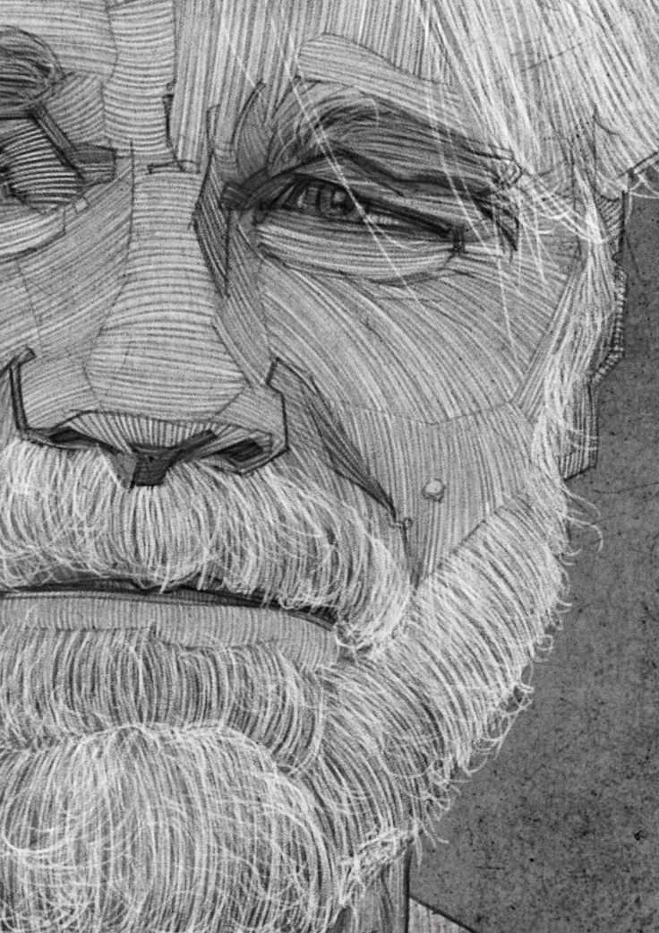 Philip Seymour Hoffman Portrait, Charcoal Line Drawing, Illustration. i am still sad about his death.