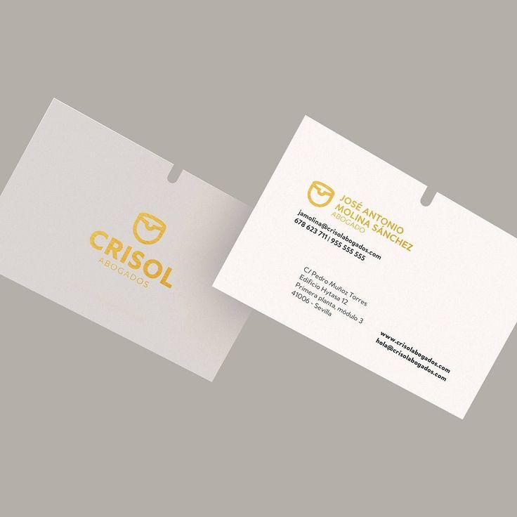 Tarjetas corporativas de Crisol Abogados diseñadas por Nömad #nomad_room #tarjeta #identidad #publicidad #advertising #diseño #desing #artdesing