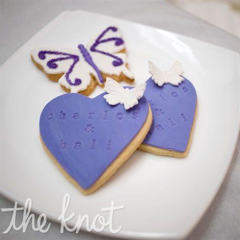 Guests took home custom-made purple cookies.