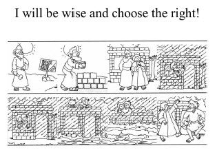 week the wise and foolish man coloring sheets i will be wise and choose the right