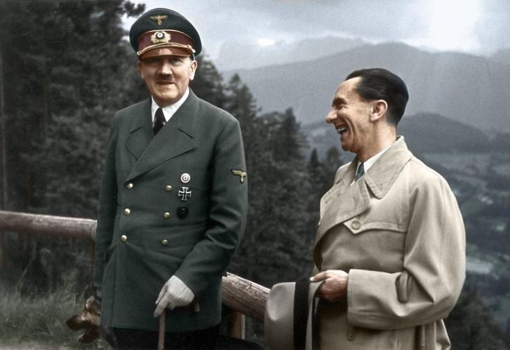 Adolf Hitler And Paul Joseph Goebbels, 1943  30 Iconic Black & White Old Pictures That Look Amazing In Colour • Page 5 of 6 • BoredBug