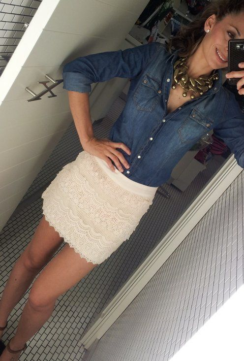 короткая кружевная юбка, белая юбка из кружева