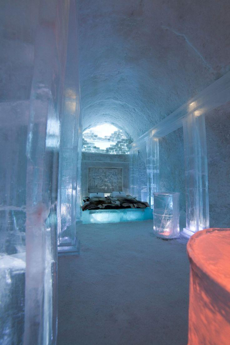 IceHotel in Jukkasjärvi, a small village in Norrbotten County, Sweden