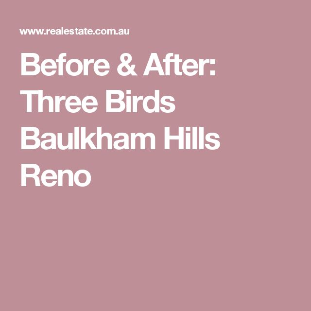 Before & After: Three Birds Baulkham Hills Reno
