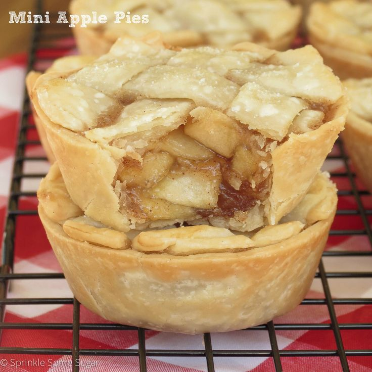 These Mini Apple Pies are easy to make and filled with a simple homemade apple pie filling. The perfect mini dessert for fall! This recipe was requested by a wonderful reader named Stephanie after she tried my mini pecan pies.