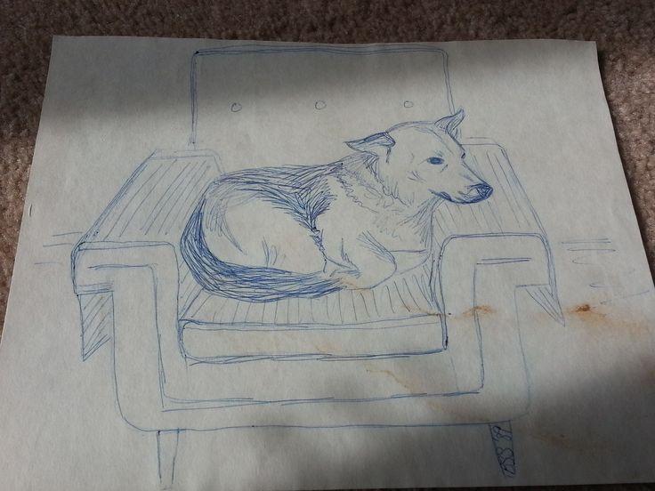 Pen: My dog Poopsie by BSStrocen - drawn in highschool