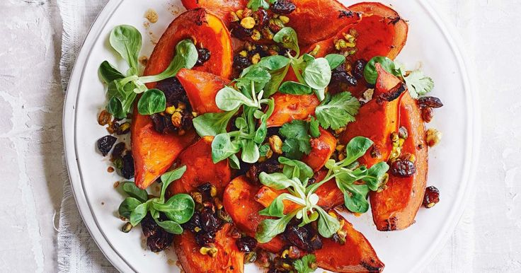 Add festive flair to classic roast pumpkin with sweet dried cranberries and crunchy pistachios.