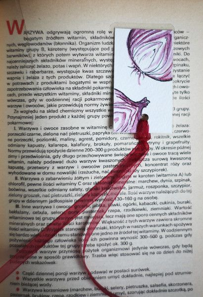 Paper & Card – Mrs Onion – Handmade bookmark – a unique product by virydi_art on DaWanda