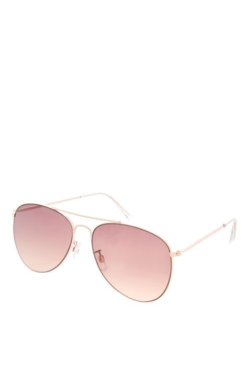 Product details      Exude cool in these stylish rose gold aviator sunglasses.