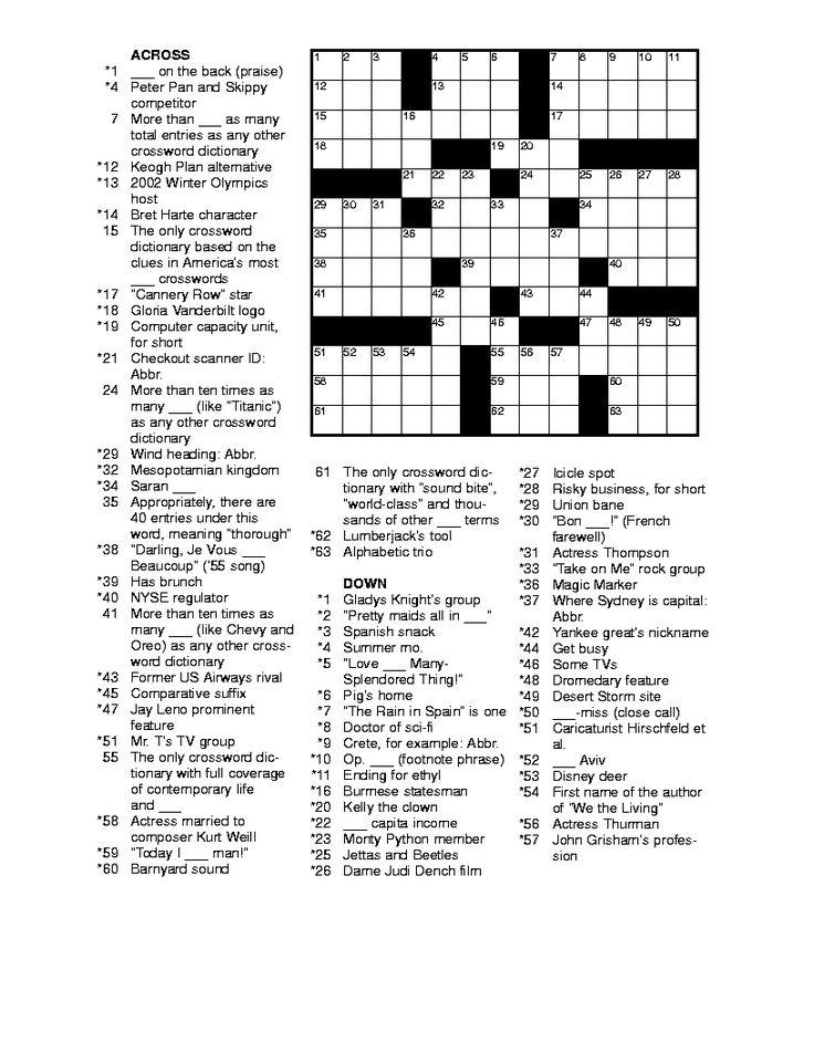 Best 25+ Printable crossword puzzles ideas on Pinterest