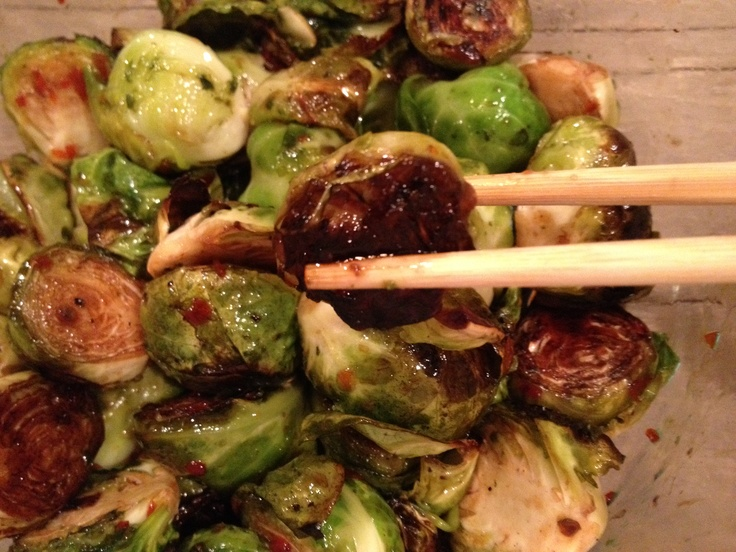 brussels sprouts with chinese sausage and spicy sweet & sour sauce